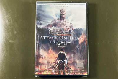 Attack On Titan Live Action The Movie I + II DVD English Subtitl
